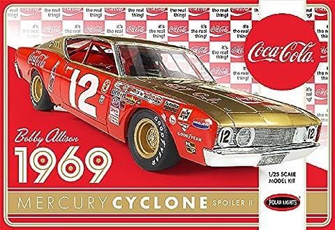 1969 Mercury Cyclone Spoiler II Bobby Allison Coca Cola 1:25 Model Kit Bausatz Polar Lights POL948