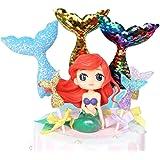 GKJ Mermaid Doll Cake Topper Figura Lentejuelas Mermaid Tail Cupcake Topper para Bodas Niños Cumpleaños Baby Shower Mermaid T