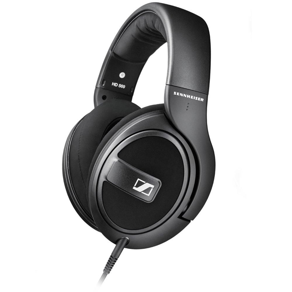 Sennheiser HD 569 – Auriculares de Diadema Cerrados (6.3 mm/3.5 mm, micrófono, Control Remoto), Color Negro