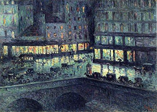 odsanart-12-x-9-cm-impressionism-la-samaritaine-altri-di-notte-maximilien-luce-di-alta-qualita-fine-