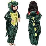 MMTX Unisex Onesies di Dinosauro Costumi Pigiama, Flanella Carattere Animale Pigiami da Notte Felpa con Cappuccio, Fancy Dres