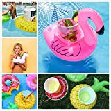 MMTX Inflatable Pool Drink Cup Holders, Unicorn Folat Flamingo Drink Float Boats Pool Floats Inflable Flotante Donuct Fruit Posavasos para Pool Party Water Fun