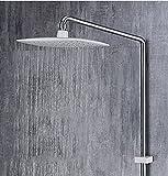 SHUAI Badezimmerausstattung Shuai Duschset Großhandel Einfach Dreifach Heiße und Kalte Dusche Dreieckig Blei-Carbon-Keramik freistehend Hauptdusche Gesetzt