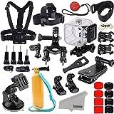 Kupton Accessori Kit per GoPro Hero 5 Session / Hero Session Bundle Azione Camcorder Accessori per Fotocamera Supporti Impermeabili Protettiva Custodia Case per Casco Bici Clip per Anteriore Auto
