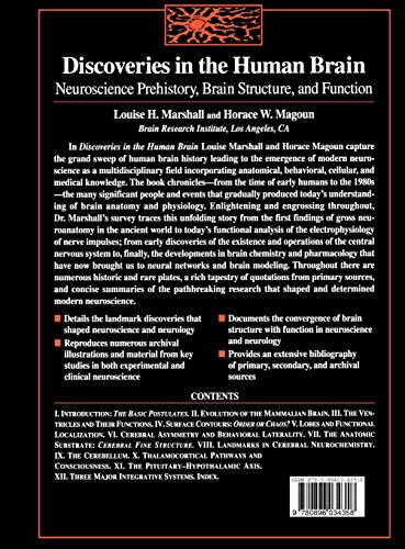 Discoveries in the Human Brain: Neuroscience Prehistory, Brain Structure and Function