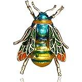 LINSUNG regalo dei monili del partito ape verde Spilla a forma di calabrone alla moda distintivo del costume del perno Bee Gr