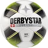 Derbystar Erwachsene Brillant TT HS Fussball, weiß schwarz gelb, 5
