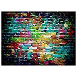 TOOGOO(R) 7x5FT Graffiti Brick Wall Photo Backdrop Photography Background Studio Props