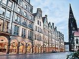 Artland Qualitätsbilder I Poster Kunstdruck Bilder 60 x 45 cm Architektur Gebäude Foto Blau B3HD Münster Skyline Abstrakte Collage