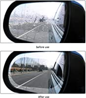 CS Glare 2 Pcs Car Rearview Mirror Film Car Side Mirror Protect Film HD Anti-Water Anti-Mist Film Anti-Fog, Waterproof...