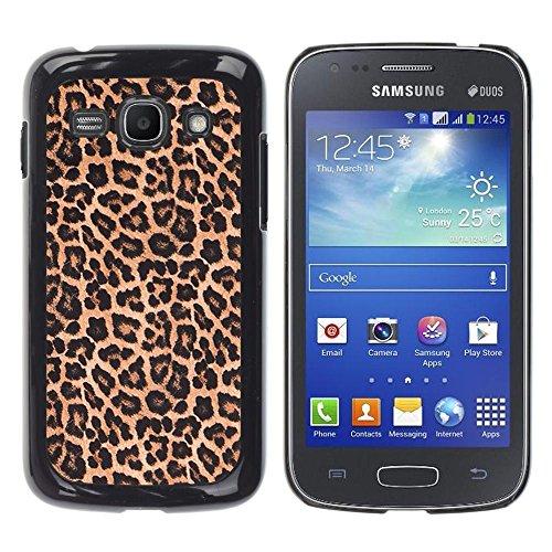 Leopard modello pelliccia marrone dorato-aluminum metal & plastica dura Phone