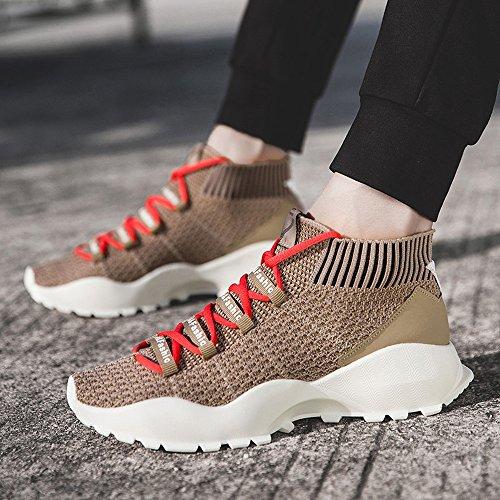 Feifei Hommes Chaussures Printemps Et Automne Loisir Chaussures 3 Couleurs (Taille Choix Multiple) (Couleur : Marron, Taille : EU40/UK7/CN41)