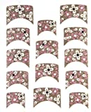 Ld Glitter French Tip Nail Art Polish Film / Stickers For Hands/ White Flower / With Bonus Flower Stickers