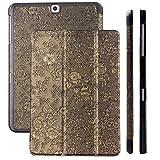 Samsung Galaxy Tab S2 9.7 Case | Bouquet negro | Funda iCues Ancho | Disponible en otros colores y otras versiones de cuero sintético | Bolsa protectora con caja de regalo