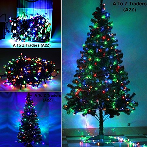 A2Z Xmas Christmas Tree with Multicolour LED Lights (5ft)