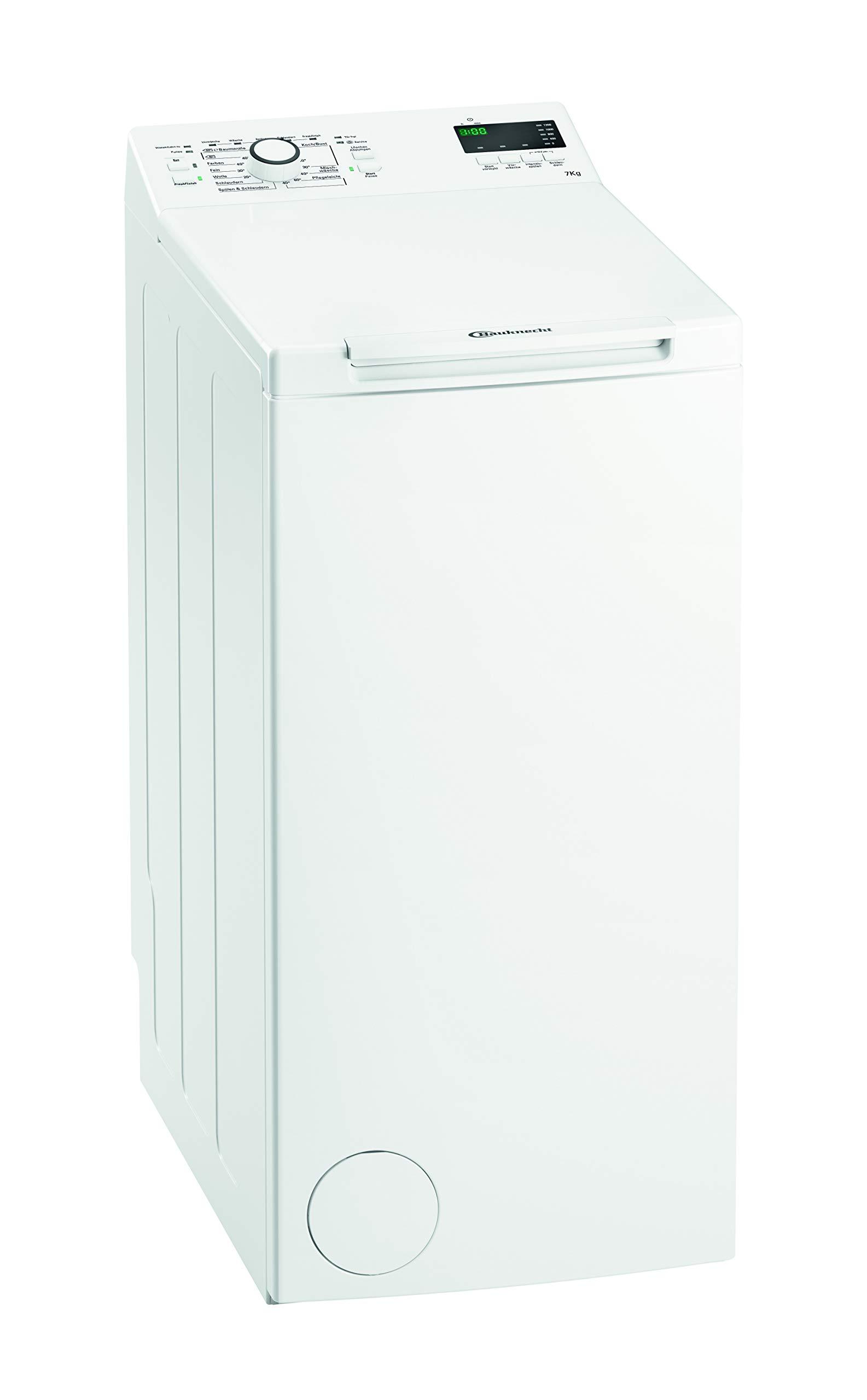 Bauknecht WAT Prime 752 Di Waschmaschine Toplader, 7 kg Füllmenge, weiß