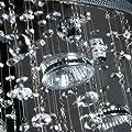 Deckenleuchte Kristalllampe ca. 100cm hoch 7xGU10 max. Leistung 50W Kronleuchter von Jago auf Lampenhans.de