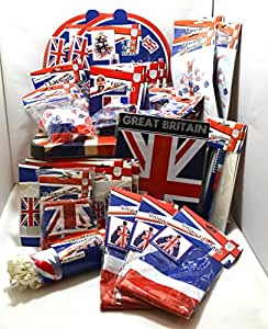 Mega England Fanpaket/Partyset in Curver Box, 92-teilig, Sparset für Englandfans