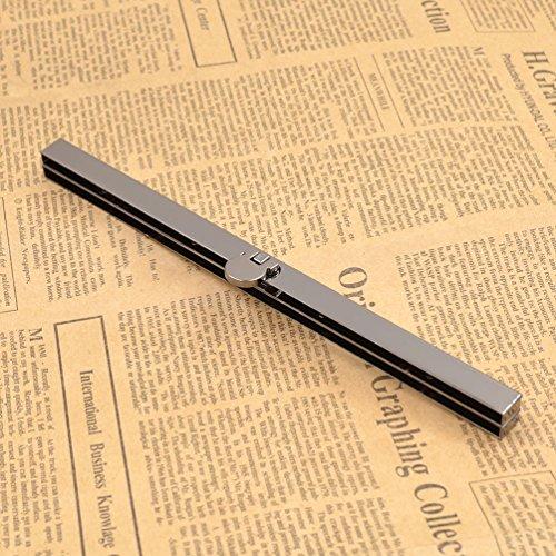 1fdf778300 YNuth Chiusura per Borsa Chiusura per Portamonete Portafoglio Borsellino  Chiusura a Clip Dritto Nero. Visualizza le immagini
