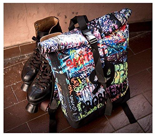 Kukubird Primavera/Estate Design Courier Escursionismo Palestra Scuola Messenger Zaino Drips