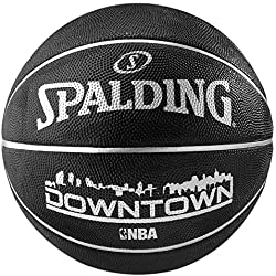 Spalding NBA Downtown Outdoor Sz.7 (83-205Z) Balón de Baloncesto, Negro, 7