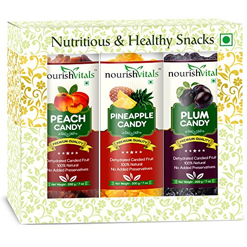 Nourish Vitals Peach + Pineapple + Plum Dried Fruit (dehydrated Fruits)