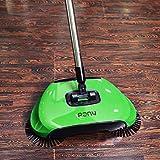 Drago Fiamma pigro 3 in 1 di pulizia della famiglia mano Spingere automatico Sweeper Broom - Compreso Broom & Paletta e cestino - Cleaner senza elettricità Ambientale (verde) immagine