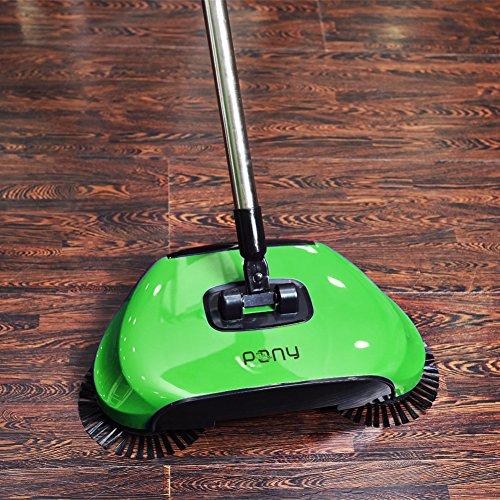Dracarys pigro 3 in 1 di pulizia della famiglia mano spingere automatico scopa - compreso scopa & paletta e cestino - cleaner senza elettricità ambientale (verde)