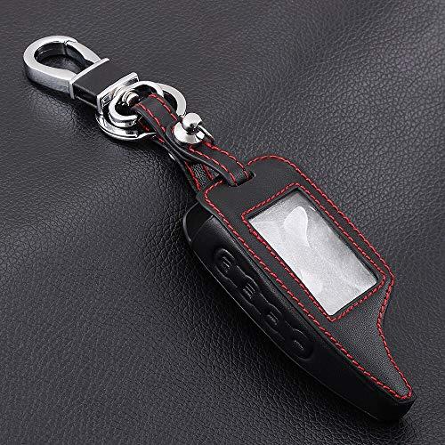 WHXHN Leder Alarm Remote Keychain Fall (für Scher Khan) Für Scher-Khan Magicar 5 6 M5 M6 Cover Holder (Fall Alarm Remote)