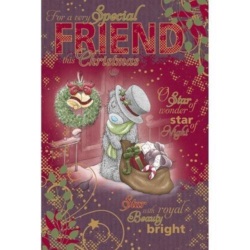 Special Friend Me to You Carte de Voeux Ours pour Noël