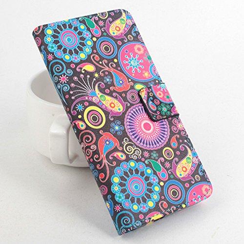 Baiwei Easbuy Bunt Pu Leder Kunstleder Flip Cover Tasche Handyhülle Case für Cubot P11 Smartphone (Side Open mit Halterung Design, Mode 5)