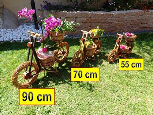 Korb-Fahrrad, Motorrad, Rad, Bike MINI 40 x 32 cm zum Bepflanzen, Blumentöpfe, Holzschubkarre, Pflanzkasten, Blumenkasten, Pflanzhilfe, Pflanzcontainer, Pflanztröge, Pflanzschale, aus hochwertigem Korbmaterial, Korbgeflecht, Rattan, Weinkörbe, Weidenkorb, Pflanzkorb, Blumentöpfe, Holzschubkarre, Pflanztrog, Pflanzgefäß, Pflanzschale, Blumentopf, Pflanzkasten, Übertopf, Übertöpfe, Holz, Haus und Eingang Gartendeko, Dekoration Pflanzgefäß