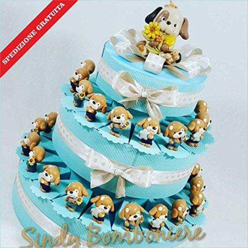 Bomboniere nascita battesimo asinello pallone napoli calcio spedizione inclusa (torta da 35 fette)