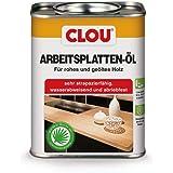 Clou Werkbladolie voor ruw en geolied hout, waterafstotende en slijtvaste olie-wascombinatie, 750 ml