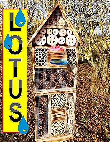 'Rustic Garden Decorative Nesting Box 50cm Hell Flame Design For Ladybug Butterfly Insect Hotel with Trough SDV Holo OS And Feeder, with a special surface coating