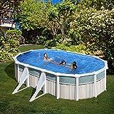 San Marina Pool-piscina in latta Capri 610x 375x 120cm + Sabbia di stagno chiarificatore
