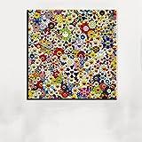XIAOXINYUAN Sun Blumen Drucken Ölgemälde auf Baumwolle Canvas Malerei Abstrakte Kunst Gemälde Dekorative Wand Bild 30 X 30 cm Ohne Rahmen