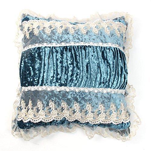 DealMux Cas de la Couverture du Coussin de Velours Maison canapé Decor arrière Coussin 50 x 50 cm Teal Bleu