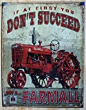 Farmall - Succeed Tin Sign 13 x 16in by ...