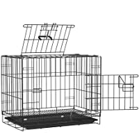 RvPaws Double Door Folding Metal Cage with Paw Protector for Dog & Cat - 36 Inch