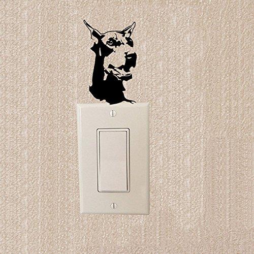 Preisvergleich Produktbild Dobermann heftige Hound Avatar wechseln Aufkleber Mode kreativ Dekorative Wand Aufkleber 2 SS 0781