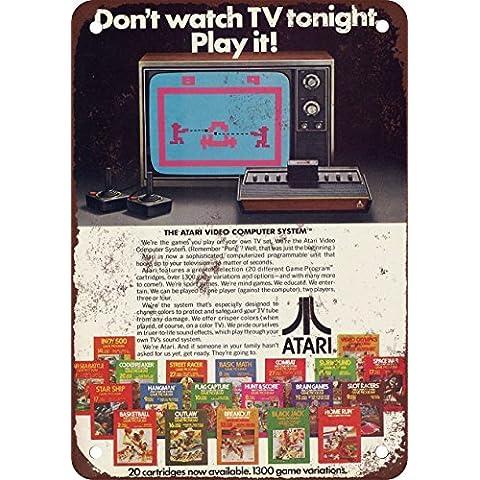 1979Atari Video sistema di computer Vintage Riproduzione in metallo Tin Sign 20,3x 30,5cm - Bud Light Neon