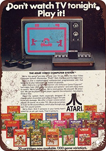 1979-atari-sistema-de-ordenador-de-video-reproduccion-de-aspecto-vintage-metal-tin-sign-8-x-12-pulga