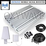 OXYWAVE® 2G, 3G &4G Tri-Band Exclusive Mobile Signal Booster/ Amplifier/ Repeater for Airtel, MTNL, BSNL, Cellone, Videocon, Reliance Jio, Idea, Vodafone, Uninor & Tata Docomo for Use at Home, Office, Basements, Flat, Hotel, Hospital, Garage Etc