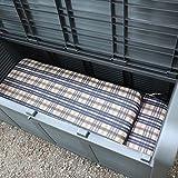 2- Sitzer Gartenbank mit Aufbewahrungsbox Truhe Kissen Auflagen Garten Terrasse - 4