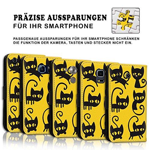 Wallet Book Style Flip Handy Tasche Case Schutz Hülle Schale Motiv Etui für Apple iPhone 6 Plus / 6S Plus - Variante UMV4 Design11 Design 8