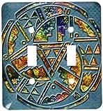 3drose l.s.p. _ 108090_ 2Designer-One Of A Kind Native American Art Lichtschalter Cover
