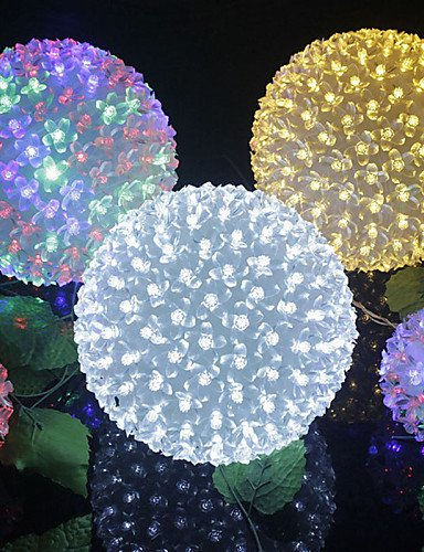 Ailimi- Natale KTV bar matrimonio la decorazione luci di palla di ciliegio lampade a LED stringa impermeabile luce 12 centimetri 50LED , warm white