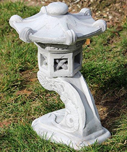 Unbekannt Beton Figur Japanische Laterne H 31 cm 3-teilig Asiatische Steinlaterne