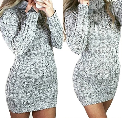 womens-long-sleeve-cowl-polo-neck-cable-knitted-jumper-mini-dress-top-s-m-8-10-grey